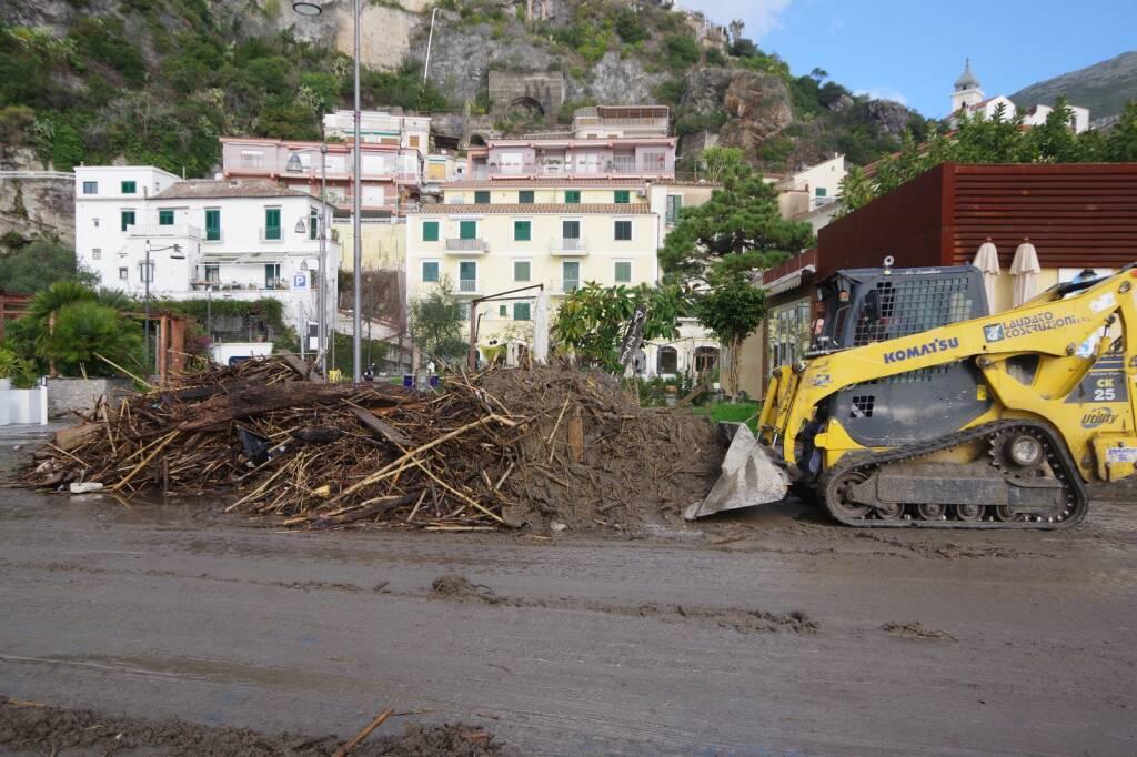 Vietri sul Mare: le conseguenze della mareggiata