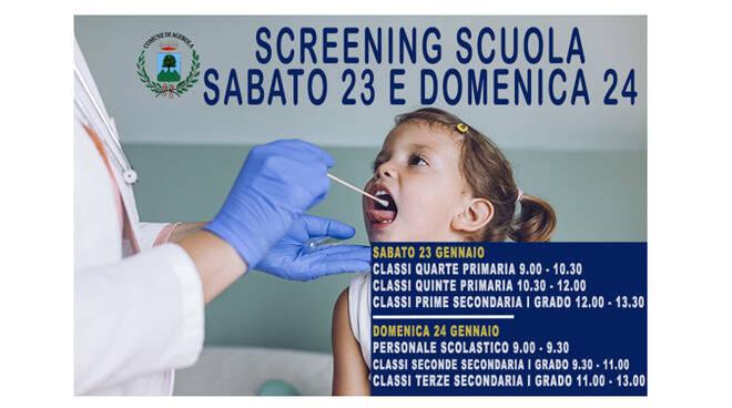 Agerola, covid-19: screening scuola. Ecco le date