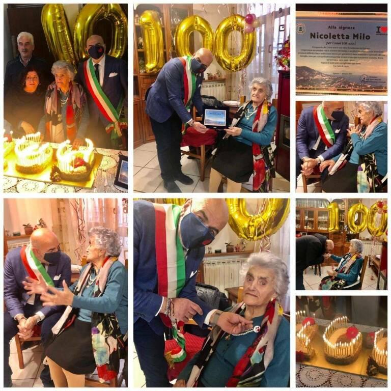 Agerola in festa per i cento anni della signora Nicoletta Milo: gli auguri del sindaco