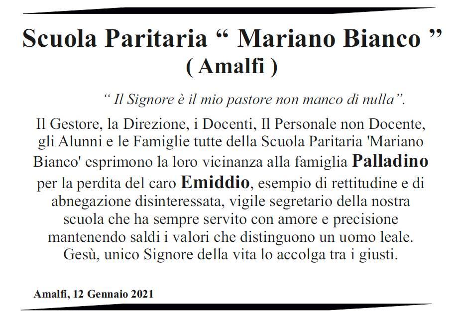 Amalfi in lutto per Emiddio Palladino