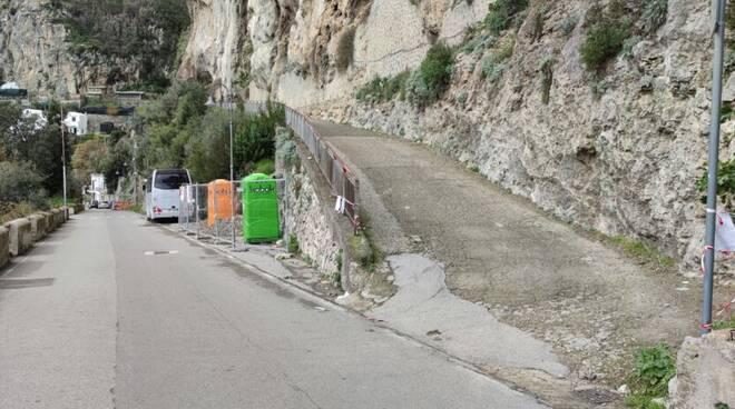 Amalfi, lavori in via Grotte di Palavena: previsto divieto di transito