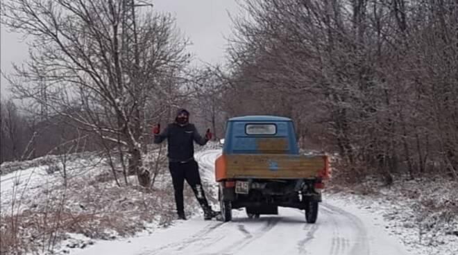 Arriva la neve in Costiera Amalfitana: le immagini da Tramonti
