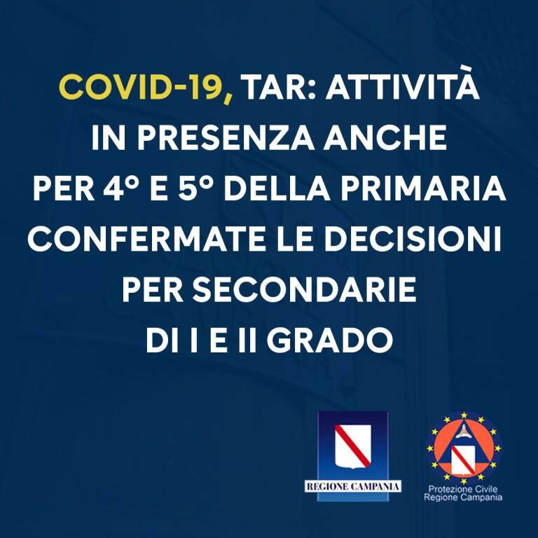 Campania, da domani ritornano in presenza anche quarta e  quinta