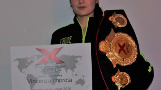 "Vincenza Improta ""Athlete of the year X.F.C. 2020"""
