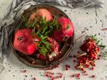 Menta e melagrana dell\'Oasi in Città per un piatto persiano veramente gustoso.