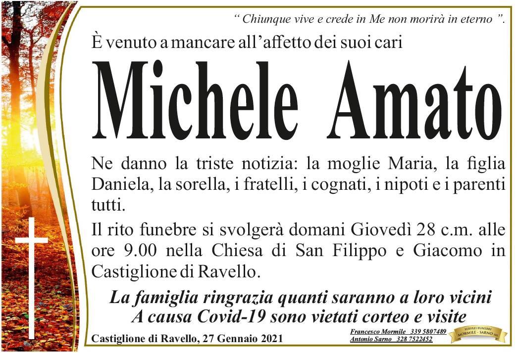 Castiglione di Ravello, è venuto a mancare all'affetto dei suoi cari Michele Amato