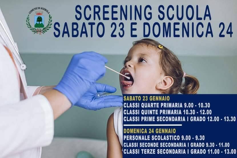 Coronavirus, screening scuola ad Agerola: oggi 185 tamponi tutti negativi, domani si prosegue