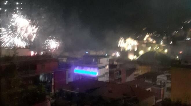 Fuochi d'artificio a Maiori