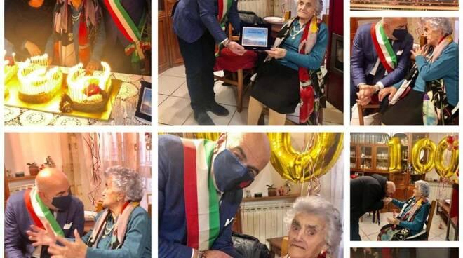 I cento anni di nonna Nicoletta: gli auguri del sindaco di Agerola