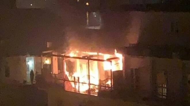 Incendio a Castellammare