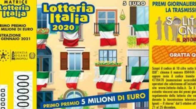 Lotteria Italia, crolla la vendita dei biglietti: venduti solo 4,6 milioni di tagliandi (-31,3%)