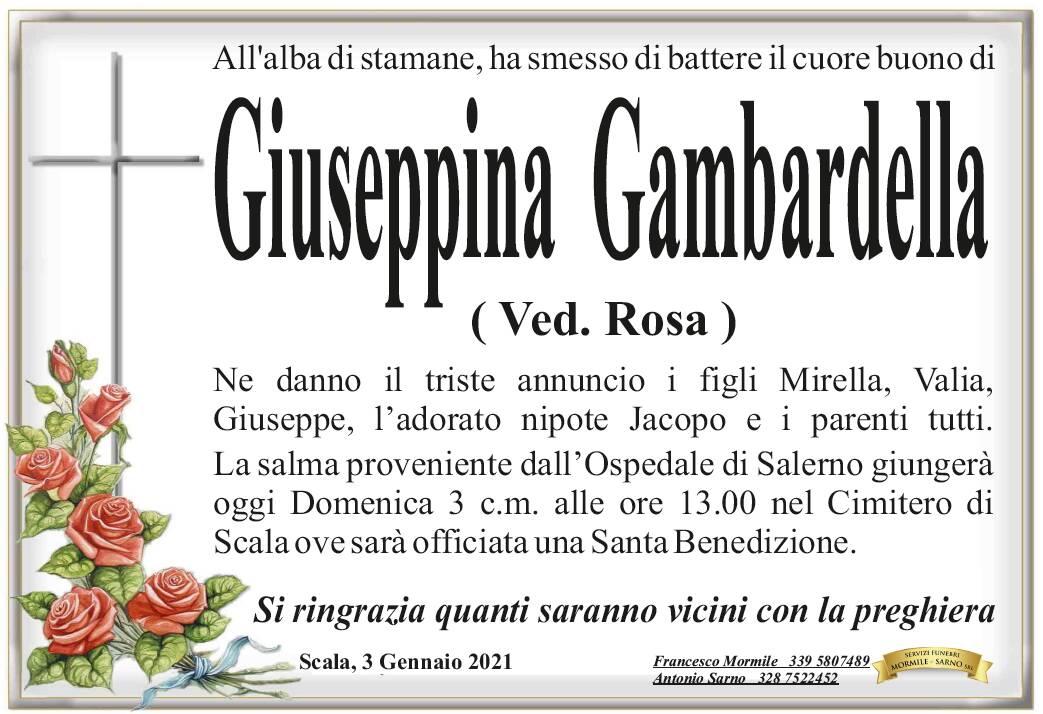 Lutto a Scala: ha smesso di battere il cuore buono di Giuseppina Gambardella, vedova Rosa