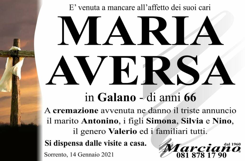 lutto maria aversa