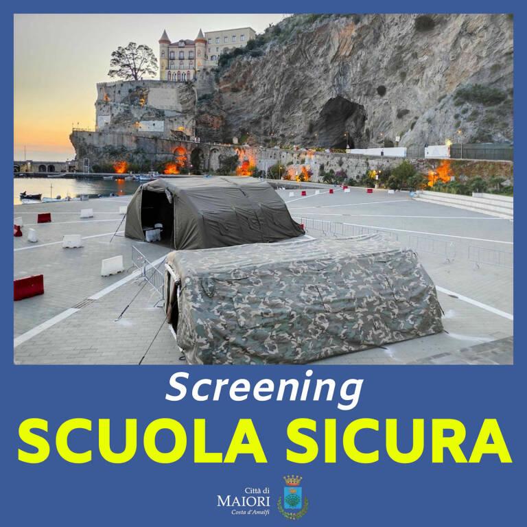 """Maiori, in vista della ripresa della didattica in presenza, mercoledì 6 sarà ripetuto lo Screening """"Scuola Sicura"""""""