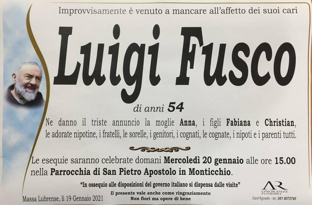Massa Lubrense, è venuto a mancare Luigi Fusco