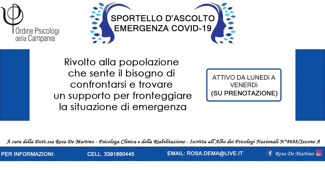Piano di Sorrento, la dottoressa Rosa De Martino ha attivato uno sportello di ascolto per l'emergenza Covid-19