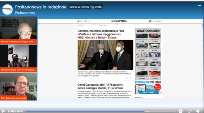 Positanonews in redazione dibattito su incarico di Mattarella a Fico