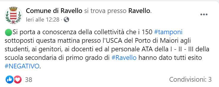 Ravello, screening scuola media