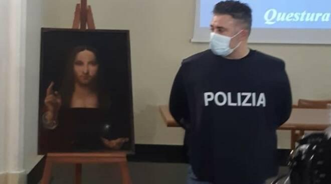 Ritrovato dipinto Salvator Mundi rubato a Napoli