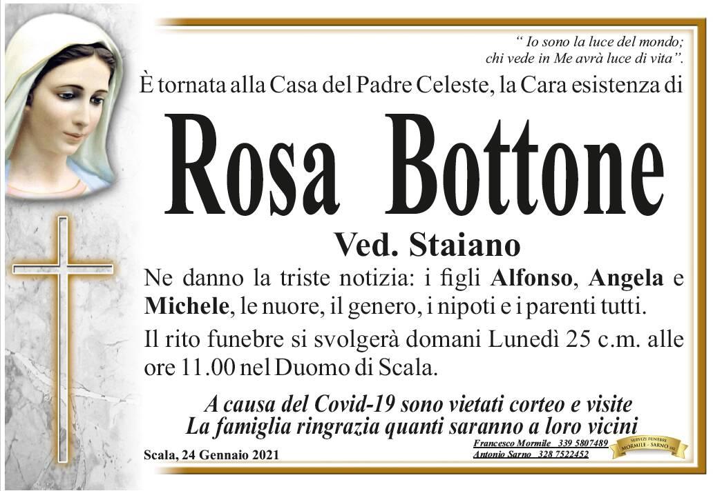 Scala: Rosa Bottone, vedova Staiano, è tornata alla Casa del Padre Celeste