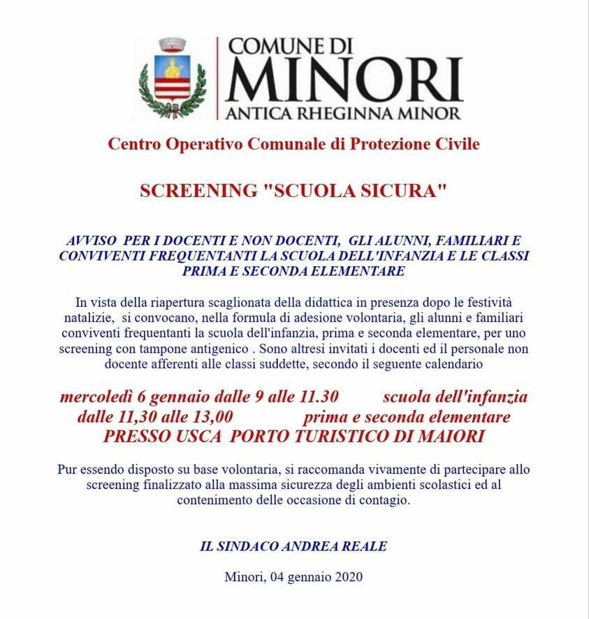 screening minori