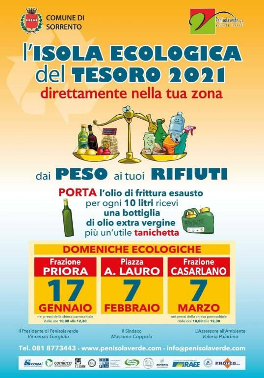 Sorrento, a Priora grande successo dell'Isola Ecologica del Tesoro 2021