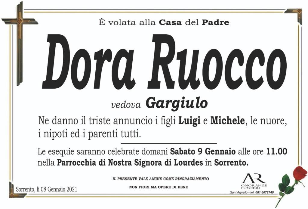 Sorrento in lutto: è volata alla Casa del Padre Dora Ruocco, vedova Gargiulo