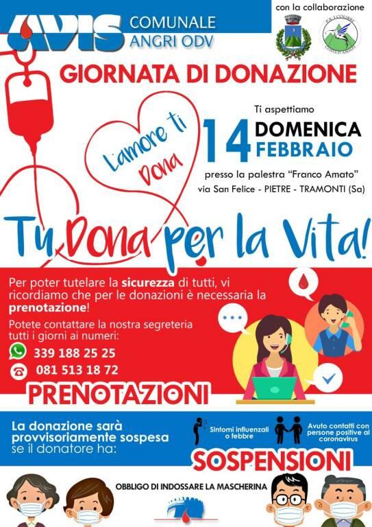 Tramonti, domenica 14 febbraio giornata dedicata alla donazione del sangue