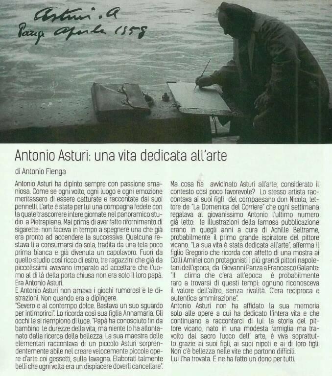 Vico Equense. Ricordiamo l'artista Asturi nel suo 35° anniversario della sua scomparsa