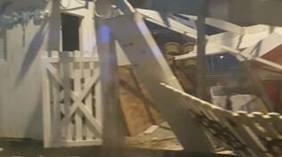 Vico Equense, una tromba d'aria colpisce la Marina di Seiano