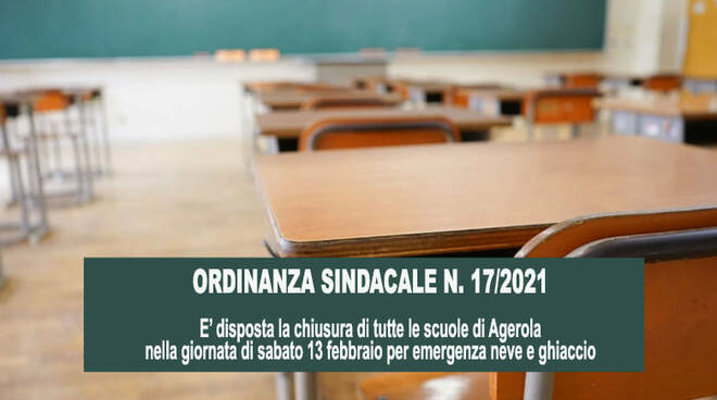 Agerola, chiusura delle scuole per emergenza neve e ghiaccio