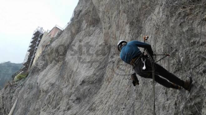 Amalfi, conclusi i lavori di messa in sicurezza nella zona della frana