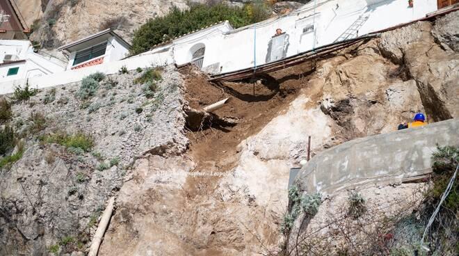 Amalfi, il sopralluogo nella zona interessata dalla frana