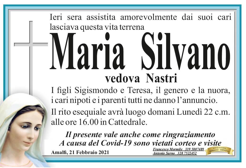 Amalfi in lutto: ci ha lasciati Maria Silvano, vedova Nastri