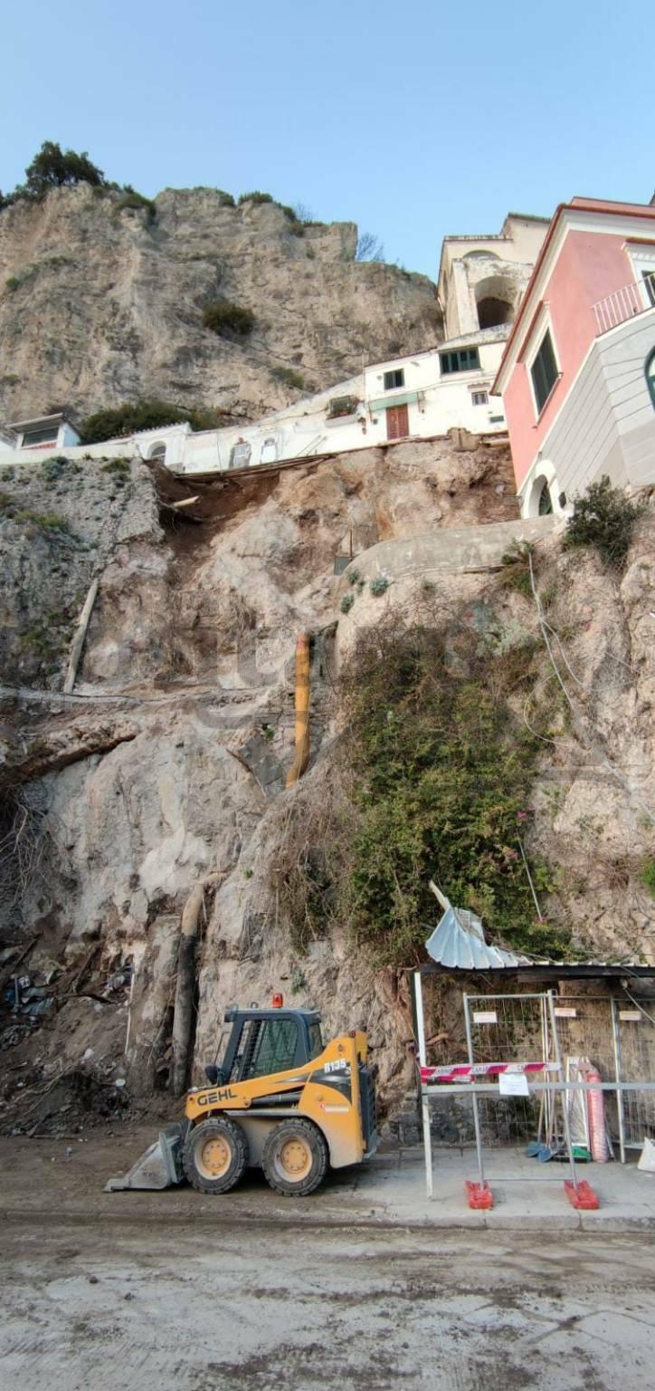Amalfi liberata area frana