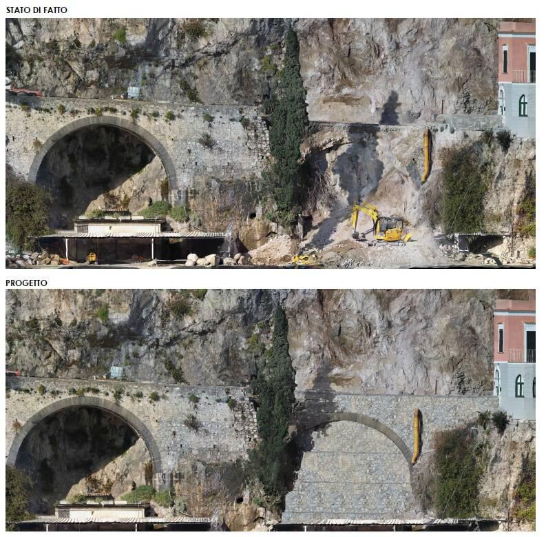 """Anas, ultimato il progetto di ricostruzione della SS 163 """"amalfitana"""" ad Amalfi. Un intervento da oltre 1 milione"""