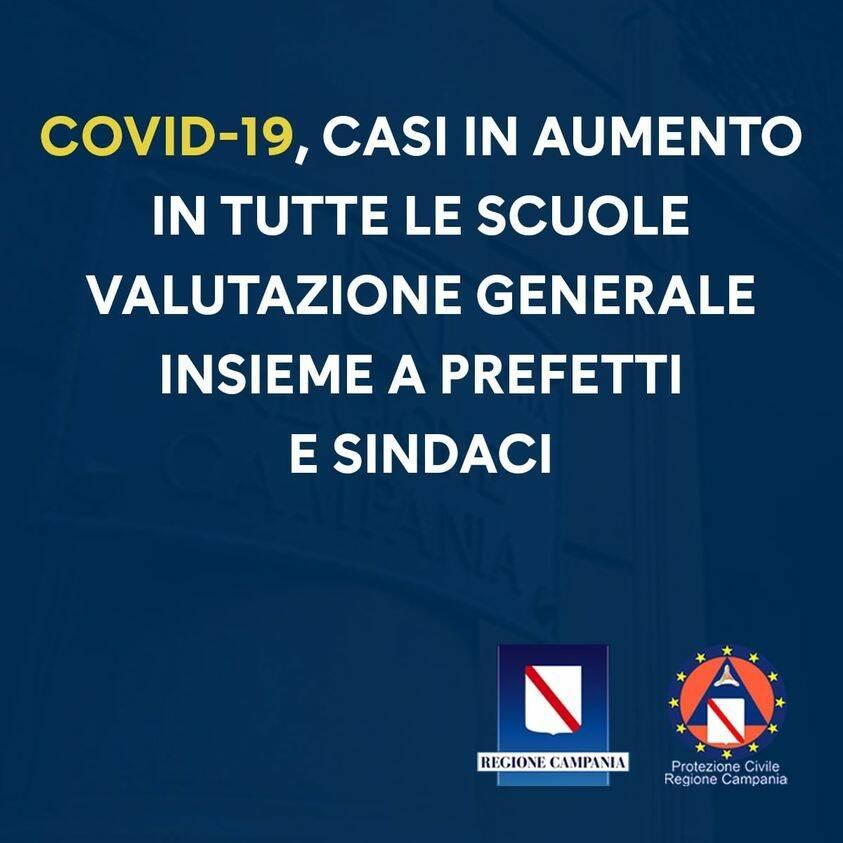 Campania, scuole chiuse: didattica a distanza fino a fine febbraio