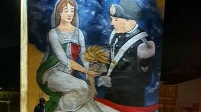 Street Art dedicata al carabiniere eroe Emanuele Reali