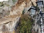 Crollo sulla strada ad Amalfi