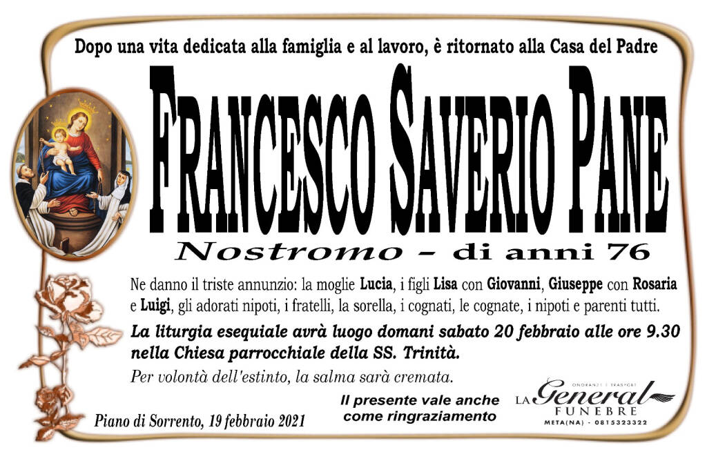 "Francesco Saverio Pane detto ""Nostromo"""