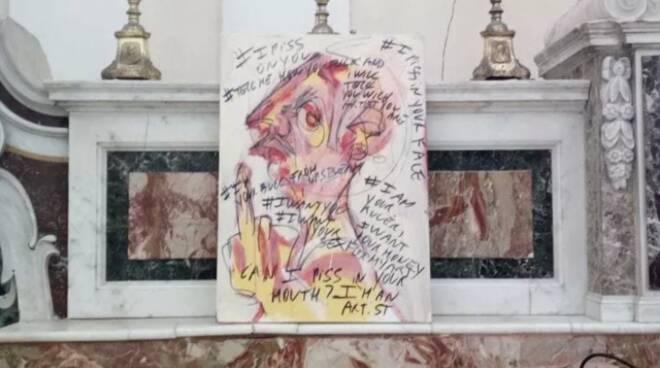 Ischia, la Street Art arriva in Chiesa e parroco e fedeli si infuriano