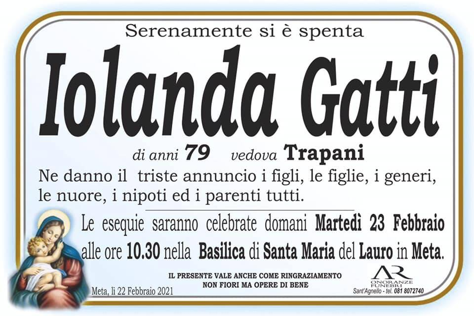 Meta, all'età di 79 anni ci lascia Iolanda Gatti, vedova Trapani