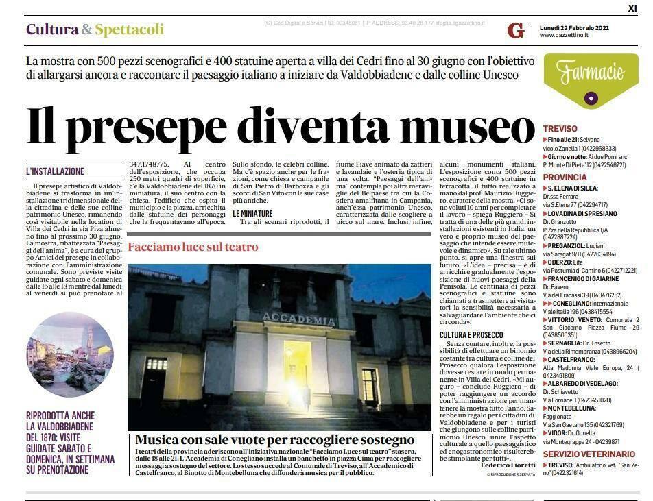 Minori, il Comune ringrazia Valdobbiadeneper aver sostenuto l'arte presepiale di Maurizio Ruggiero