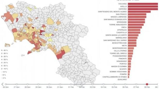 Oltre Massa Lubrense e Meta ecco gli altri Comuni della Campania che rischiano la zona rossa