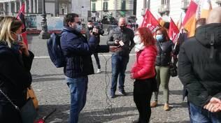 Penisola sorrentina, la protesta dei lavoratori stagionali a Napoli