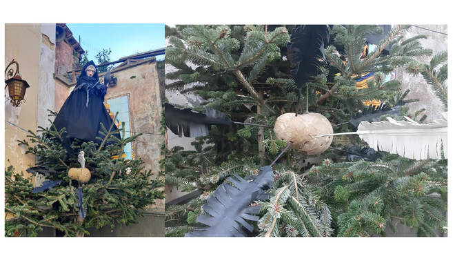 Piano di Sorrento, l'albero di Quaresima del Borgo di San Liborio