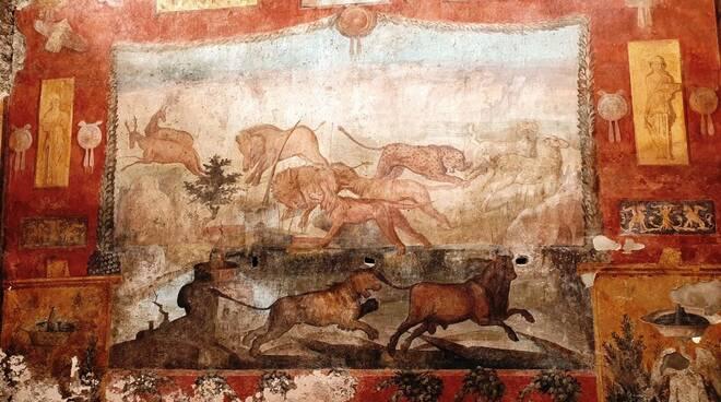 Pompei, torna al suo splendore il grande affresco del Giardino della Casa dei Ceii
