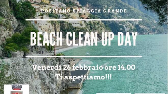 Positano, venerdì 26 febbraio beach clean up day