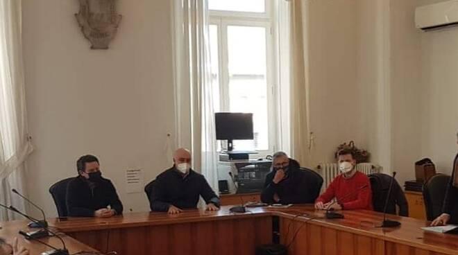 Riunione organizzativa per il piano di vaccinazione della Penisola sorrentina oggi presso il Comune di S. Agnello.