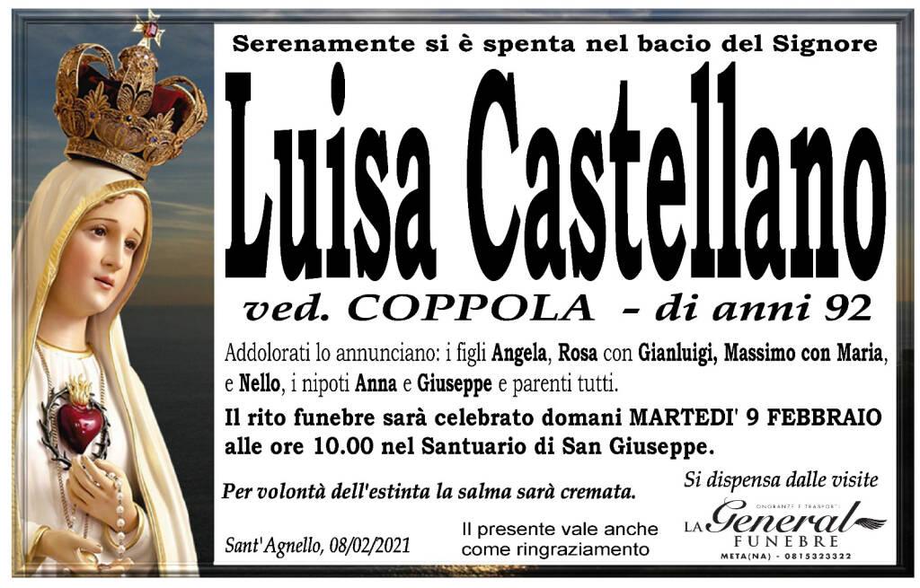 Sant'Agnello, serenamente si è spenta Luisa Castellano